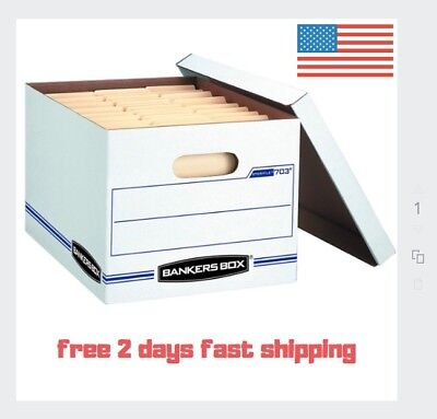 Bankers Box Stor/File Storage Boxes heavy duty 6 pack office legal moving fold