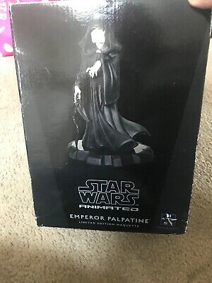 Emperor Palpatine Animated Maquette Statue Star Wars Gentle Giant Rotj