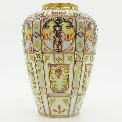 Antique Liberty & Co a rare wonderful Nippon Art Deco hand painted Vase 2  C.192