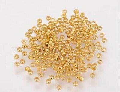 Crimps - Silver Gold Or Bright Silver - (5G) 350 Pieces - 2Mm - New