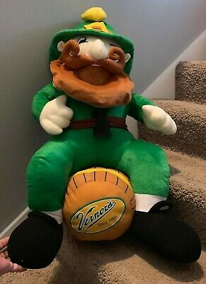 Vernor's Ginger Ale Plush Advertising Woody the Gnome On A Keg