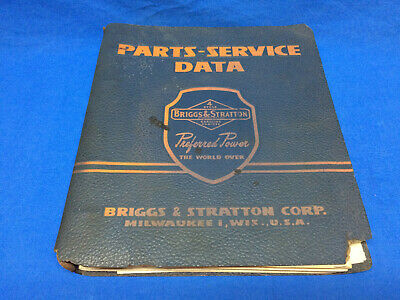 1950s BRIGGS AND STRATTON PARTS AND SERVICE DATA MANUAL W/ Vintage Decal