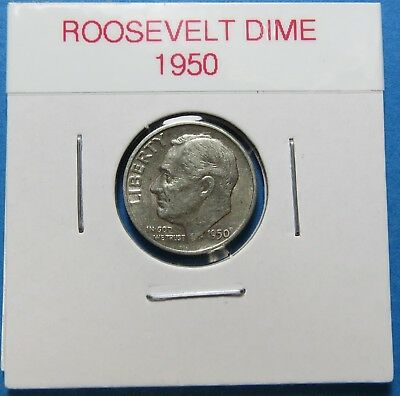 1950  Roosevelt Silver Dime ~ For Gift Or Set  ~ Combined Shipping ~ Lot 596