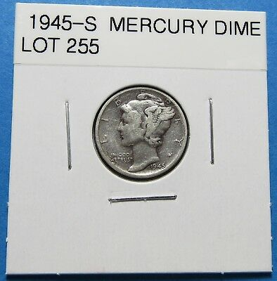 """1945-S  Mercury Dime ~ Mirco """"s"""" ~ For Gift Or Set ~ Combined Shipping Lot 255"""