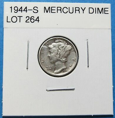 1944-S  Mercury Dime ~ For Collection Set Or Gift ~ Combined Shipping Lot 264