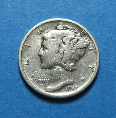 """1943-S  Mercury Dime ~ Gift Or Set ~ """" 90% Silver ~ Combined Shipping Lot 270"""