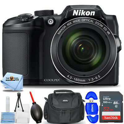 Nikon COOLPIX B500 Digital Camera (Black) #26506 STARTER BUNDLE