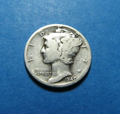 1940-D  Mercury Dime ~ For Collection Set Or Gift  ~ Combined Shipping Lot 293