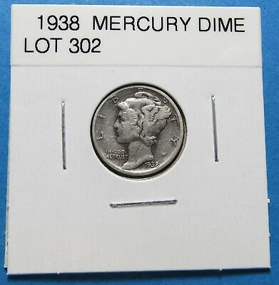 """1938  Mercury Dime ~ Set Or Gift Idea ~ """" 90% Silver ~ Combined Shipping Lot 302"""