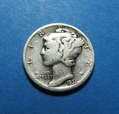 """1936  Mercury Dime ~ For Set Or Gift ~ """" 90% Silver ~ Combined Shipping Lot 311"""