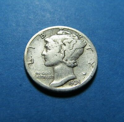 1935-S  Mercury Dime ~ For Collection Set Or Gift ~ Combined Shipping Lot 313