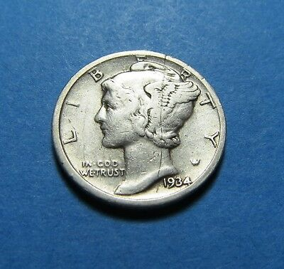 1934  Mercury Dime ~ For Collection Set Or Gift Idea ~ Combined Shipping Lot 319