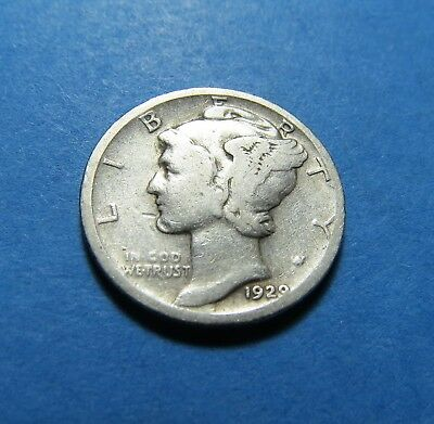 """1929-D  Mercury Dime ~ For Set Or Gift~ """" 90% Silver ~ Combined Shipping Lot 326"""