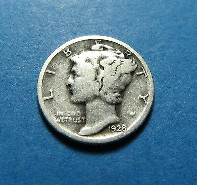 1928  Mercury Dime ~ For Collection Set Or Gift Idea ~ Combined Shipping Lot 332