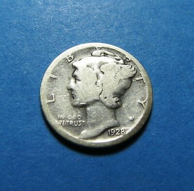 """1928-D  Mercury Dime ~ For Set Or Gift~ """" 90% Silver ~ Combined Shipping Lot 331"""