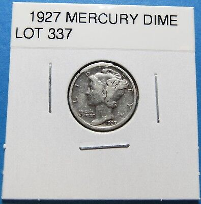 """1927  Mercury Dime ~ For Set Or Gift ~ """" 90% Silver ~ Combined Shipping Lot 337"""