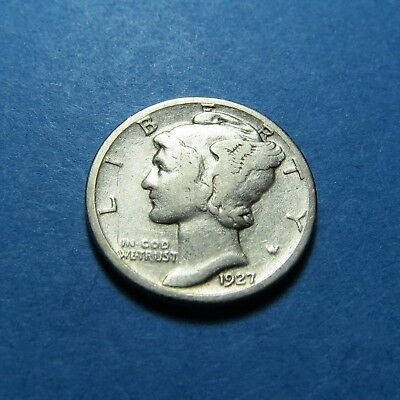 """1927-S  Mercury Dime ~ For Set / Gift ~ """" 90% Silver ~ Combined Shipping Lot 334"""