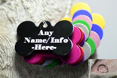 Personalised SML BONE shape Pet Id Tag,Dog Identification,Engraved,dog CAT Tags