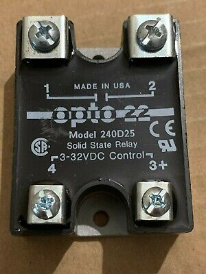 Opto 22 Model 240D25 Solid State Relay 3-32VDC Control