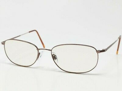 80e82166f59 Flexon by Marchon Eyeglass Frame 600 Brown Metal Full Rim Rectangular  54  18-