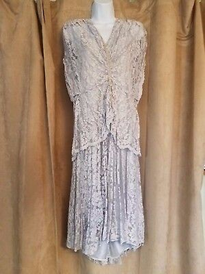 4c63f706b39 Vintage Pat Richards by Michael Maiello Lavender Gown with Crystal Front  Size 8