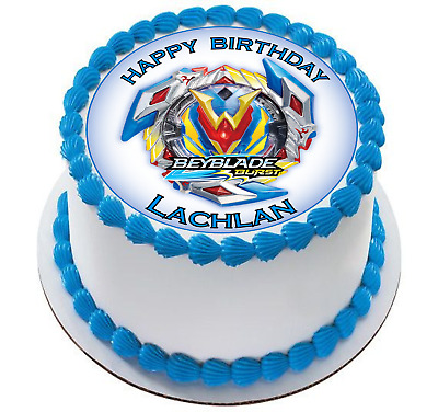 BEYBLADE EDIBLE PERSONALIZED 7.5in Circle Cake Topper Image ...