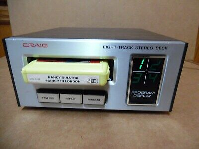 Vtg Old School CRAIG Eight Track Deck H240 8 Player Powers Up FF & Changes Progr