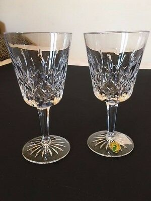 """NEW PAIR WATERFORD CRYSTAL LISMORE GobletS 6 7/8"""" IN ORIGINAL BOX"""