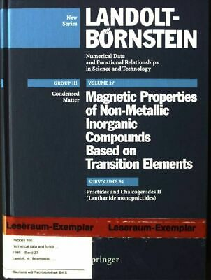 Landolt-Börnstein. Group 3 / Condensed Matter/ Volume 27: Magnetic properties of