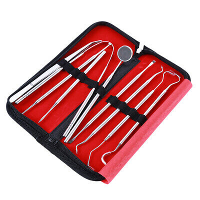 Dental Tooth Cleaning Kit Dentist Scraper Pick Calculus Plaque Remover New OE