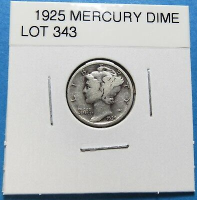 1925  Mercury Dime ~ For Collection Set Or Gift ~ Combined Shipping Lot 343