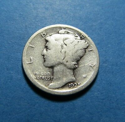 """1925-D  Mercury Dime ~ For Set Or Gift~ """" 90% Silver ~ Combined Shipping Lot 342"""