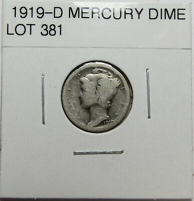 1919-D  Mercury Dime ~ For Collection Set Or Gift  ~ Combined Shipping Lot 381