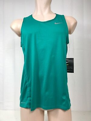 45af469c1245 NWT Nike Dry Dri Fit Running TANK Top NEW Men s Turquoise Teal Size Large