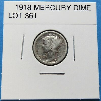 1918  Mercury Dime ~ For Collection Set Or Gift Idea ~ Combined Shipping Lot 361