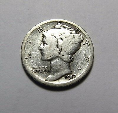 1917 Mercury Dime ~ For Collection Set Or Gift Idea ~ Combined Shipping Lot N22