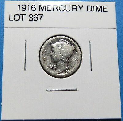 1916  Mercury Dime ~ For Collection Set Or Gift Idea ~ Combined Shipping Lot 367