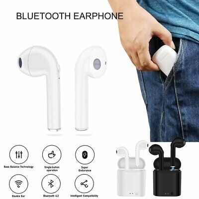 Dual Wireless Bluetooth Earphone Earbuds for Apple iPod iPhone & Charging Box