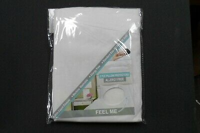 2 X Pillow Protector Covers with Zipper Opening 53 X 68cm ALLERGY FREE WASHABLE