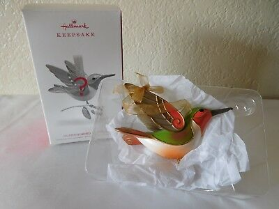New Hallmark 2018 Hummingbird Surprise Repainted Gold Ornament- Ltd. Edition