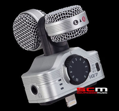ZOOM iQ7 MID-SIDE STEREO MICROPHONE for iOS Devices LIGHTNING CONNECTOR RECORDER