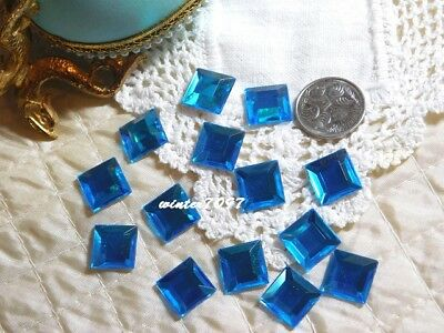 (353)*Costume Makers Sellout*Flat Back Rhinestones*Squares*Sky Blue*New!*