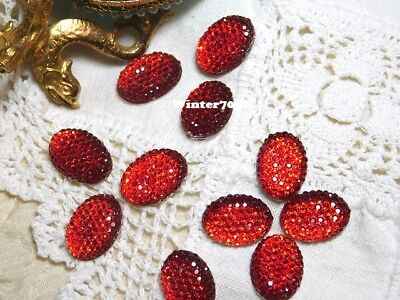 (227)**Costume Makers Sellout**Flat Back Rhinestones**Red**Oval**New!**