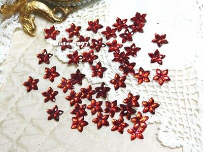 (208)**Costume Makers Sellout**Flat Back Rhinestones**Red**Flowers**New!**