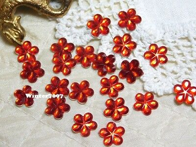 (212)**costume Makers Sellout**flat Back Rhinestones**red**flowers**new!**