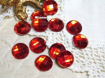 (209)**costume Makers Sellout**flat Back Rhinestones**red**round**new!**