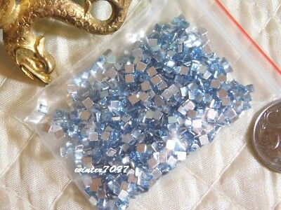 (416)*Costume Makers Sellout*Flat Back Rhinestones*Light Blue*Squares*New!*