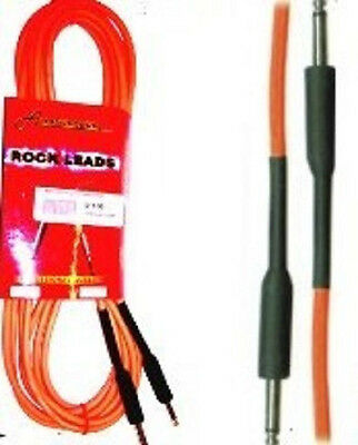 Guitar Cable Lead Fluorescent Orange 3m 10ft Pro Quality Brand New