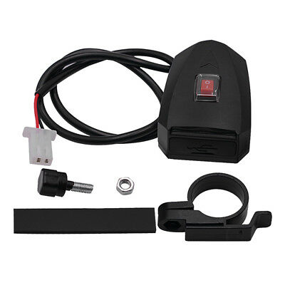 Waterproof Dual USB(12V)Motorcycle Handlebar Charger Socket With Switch & Mounts