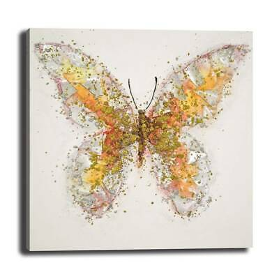 """8/12/16"""" Still Life Butterfly Decorative Painting Modern Style W/ Frame"""